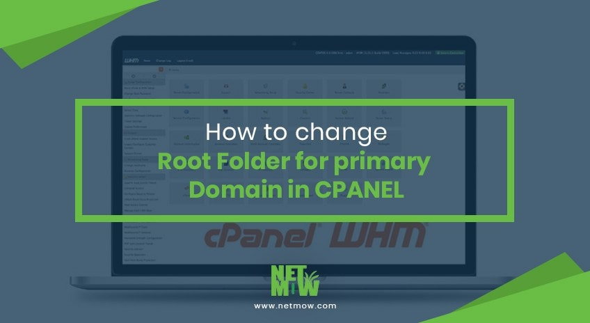 How to change Root Folder for primary Domain in Cpanel