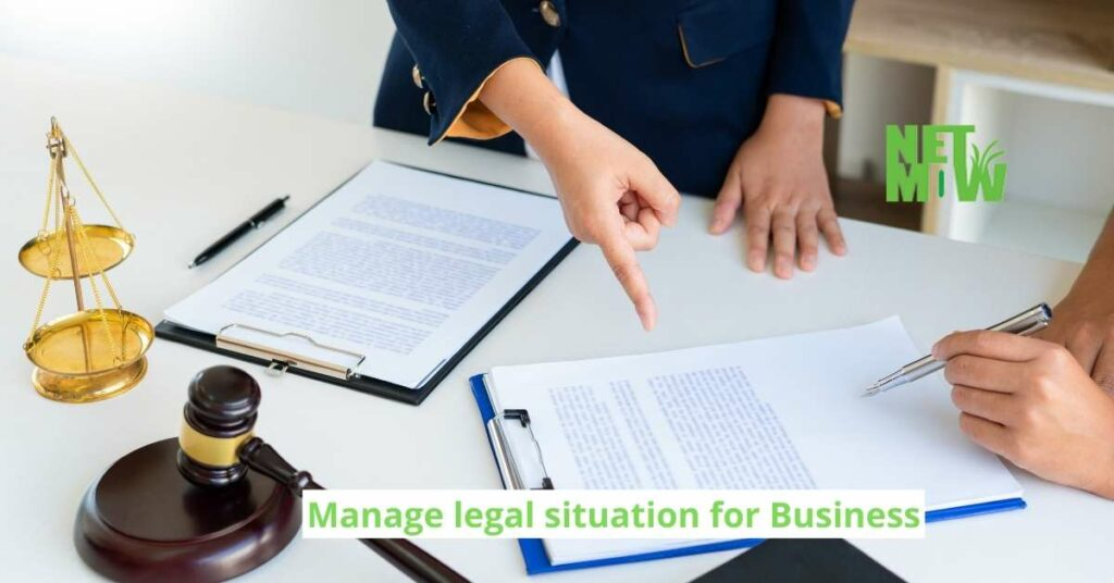 Manage legal situation for Business